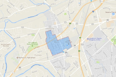 Voting District Rev, LANGHORNE MANOR Voting District, Bucks County, Pennsylvania